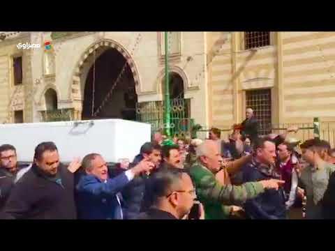 جثمان محمد متولي يغادر مسجد السيدة نفسية لمثواه الأخير