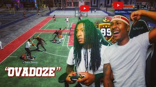I played 2k with my little brother! My Brother is my New UNDEFEATED DUO on NBA 2K19! Best Build 2k19