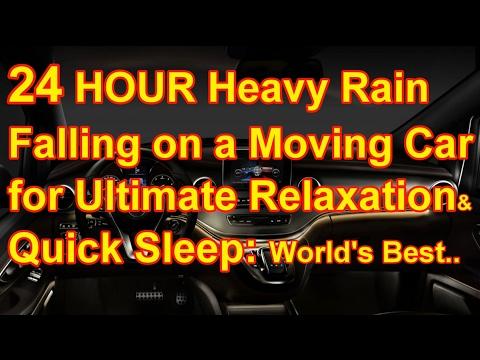 24Hour Heavy Rain Drive in Canada/Best Ambience of Rain in a Car/Sleep Sound/Reiki Relaxation&Sleep