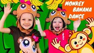 Monkey Banana Dance #2   Baby Monkey Animals   Dance Along   Olivia Kids Tube