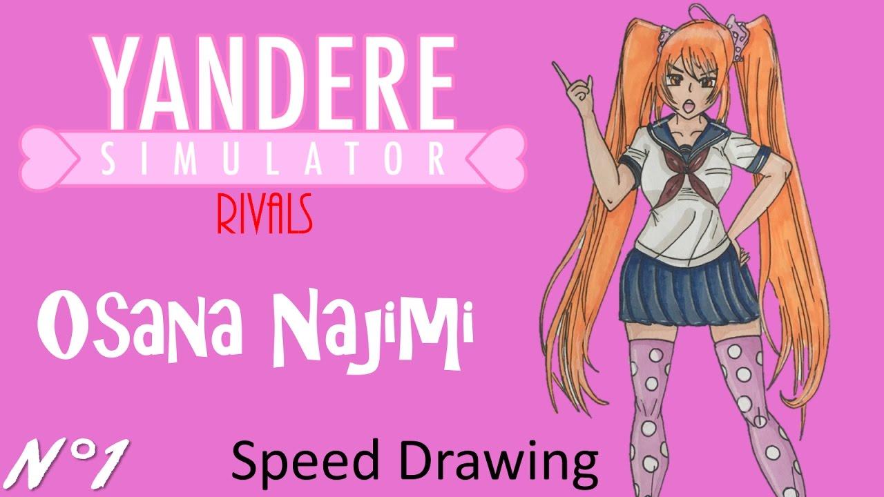 Speed Drawing Yandere Simulator Rivals 1 Osana Najimi Youtube