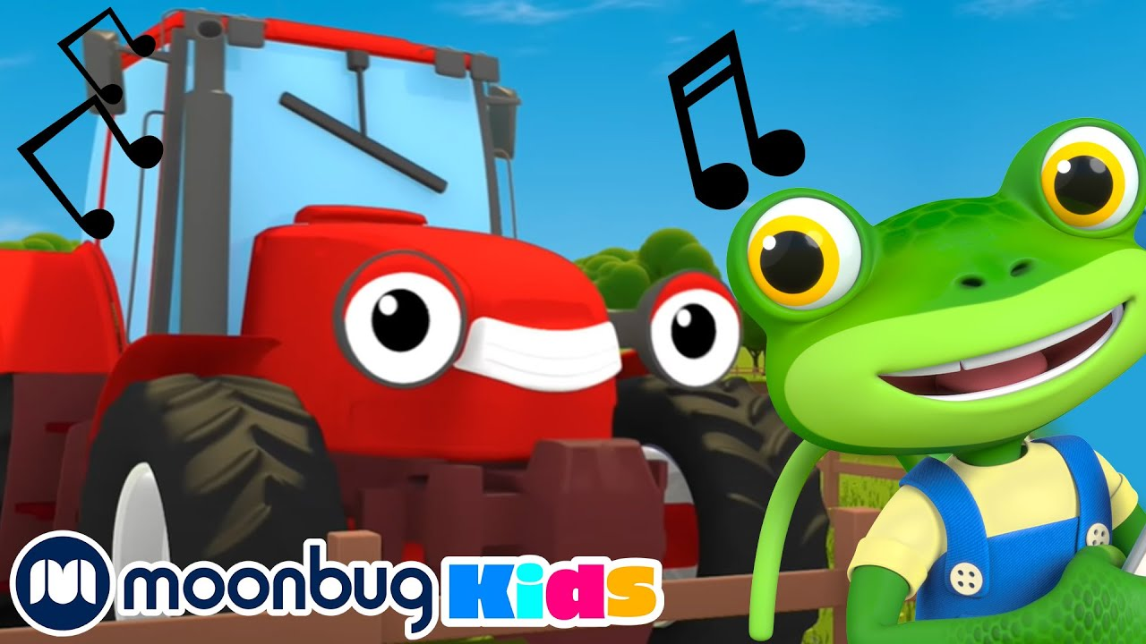 Trevor the Tractor Song & MORE | GECKO'S GARAGE | Nursery Rhymes & Kids Songs