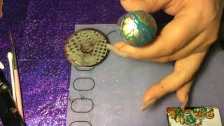 STAMPING UNDER WATER MARBLE!!!! Super easy stamp plus water marble nail art