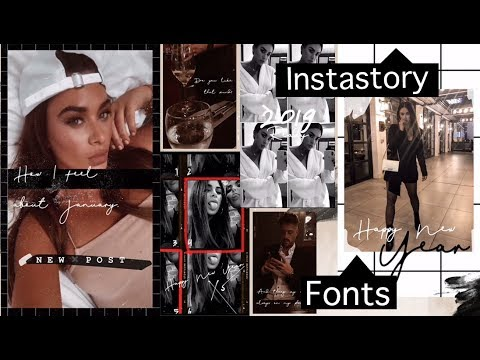 Fonts For Instagram Stories! || How To Add Fonts To Instastories! || Tashietinks