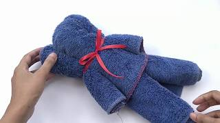 How To Make A Teddy Bear Out Of A Bath Towel
