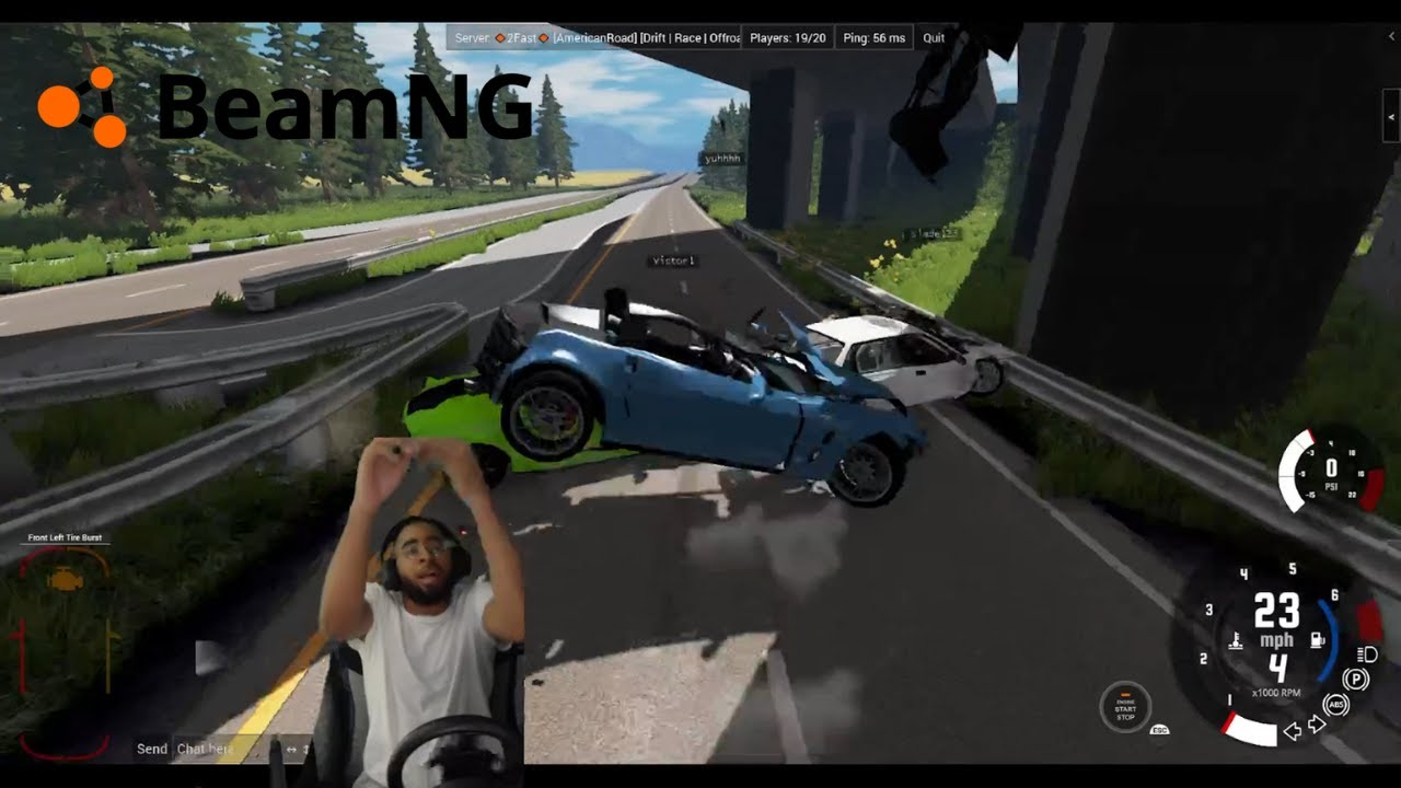 Trying to get Nick to like BeamNG.Drive gone WRONG lmaooo