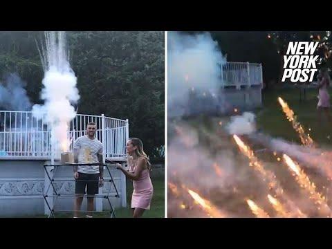 Kat Jackson - Firework Gender Reveal Fail