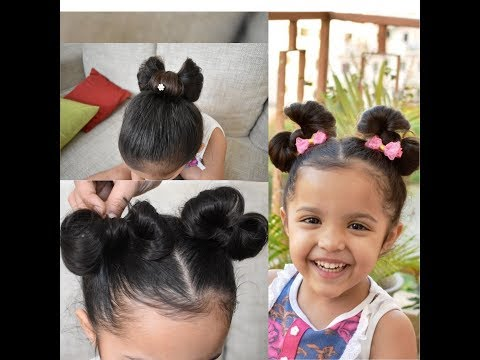 Under 5 minutes  -Cute & easy Minnie Mouse Hairbow Tutorial for kids girls|For Short Medium hair