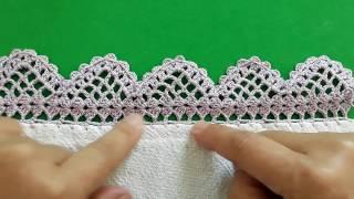 Aprenda a Fazer Bico de Crochê no Pano