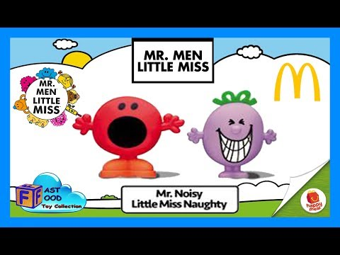 2017 Mr. Noisy & Little Miss Naughty McDonald's Happy Meal Toys | fastfoodTOYcollection