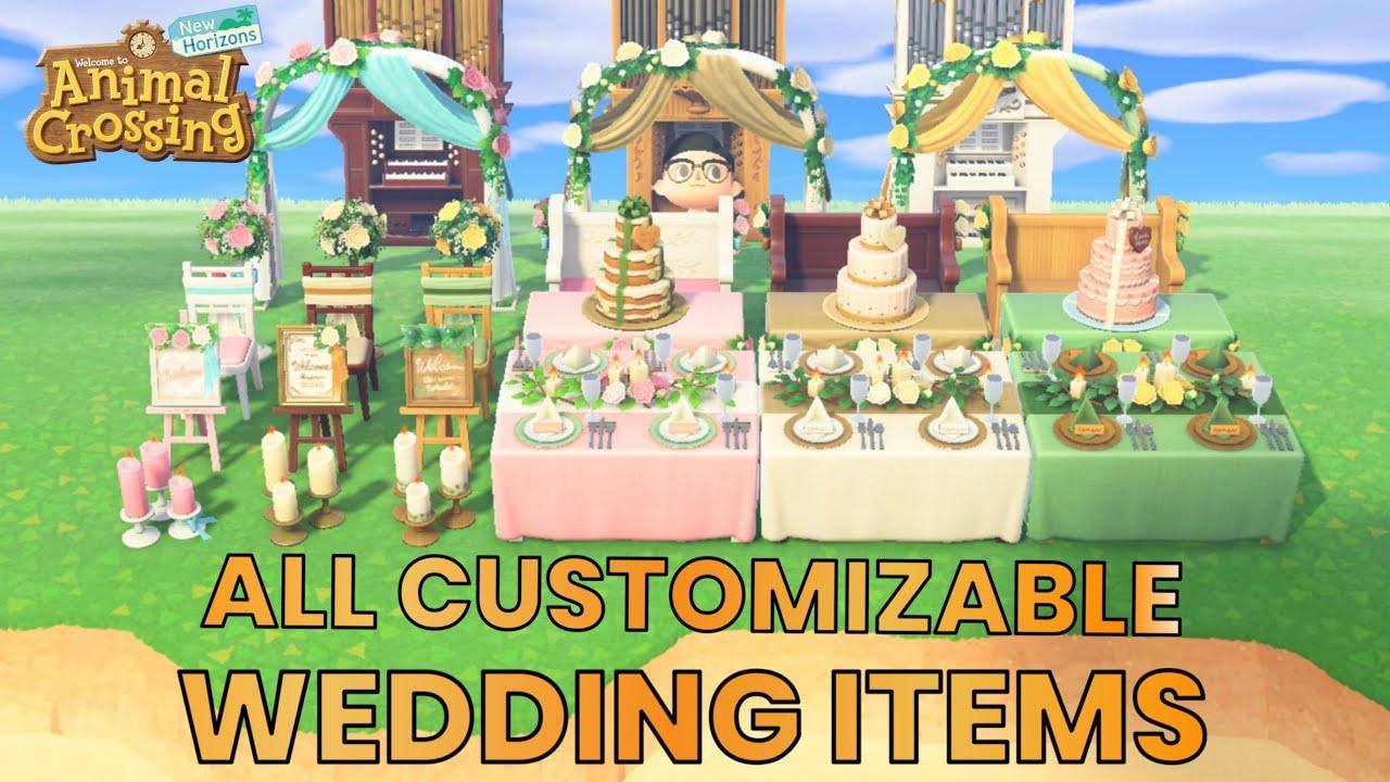 All Customizable Wedding Items Animal Crossing New Horizons And Amazing Wedding Island Tour Youtube