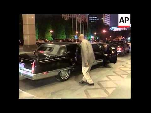 US Attorney General John Ashcroft arrives in Beijing