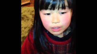 ヨコミネ式の幼稚園に通う6歳(年長)の女の子 「心訓 福沢諭吉」を暗唱...