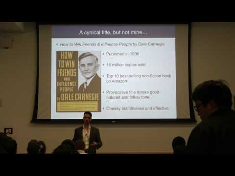 How to win friends and influence people - Prof. Darren Lipomi - Eng. Grad & Postdoc Talks - UCSD
