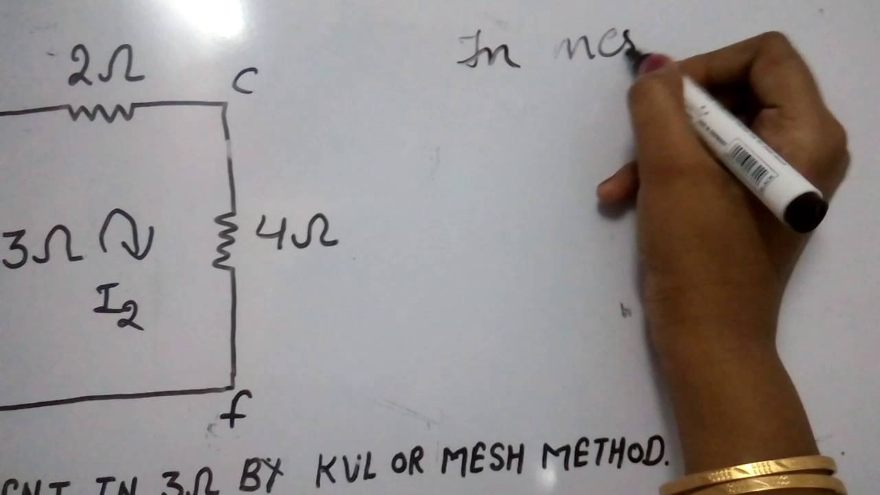 How To Solve Circuit Diagrams Wiring Diagram For Ceiling Fan With Light Simple Method Kvl Youtube