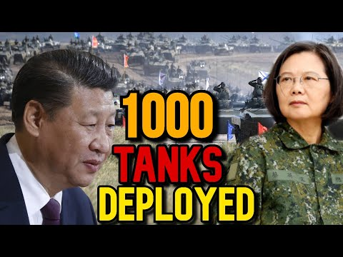 Taiwan takes action: Deploys 1000 tanks At The Beachhead To prevent China invasion!