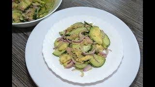 Салат с тунцом и авокадо//Легкий и очень вкусный