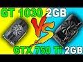NVIDIA GT 1030 vs GTX 750 Ti   Pentium G4560   Comparison 
