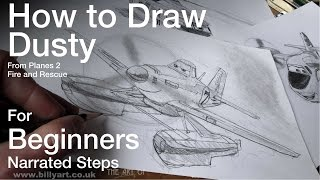 How to Draw Dusty Crophopper from Planes 2 Fire and Rescue