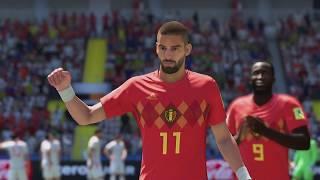 World Cup 2018 - Belgium vs Tunisia - Group G Full Match Sim (FIFA 18)