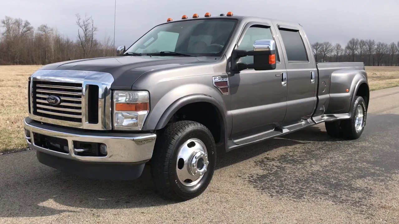 2008 ford f350 dually 4x4 lariat 6 4 diesel dark shadow gray