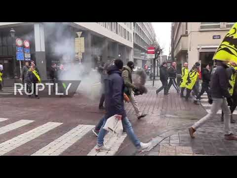 Belgium: Thousands protest UN migration pact in Brussels