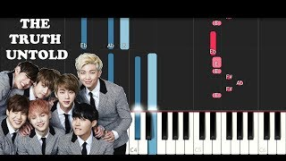 Video BTS ft. Steve Aoki - The Truth Untold (Piano Tutorial) download MP3, 3GP, MP4, WEBM, AVI, FLV Mei 2018