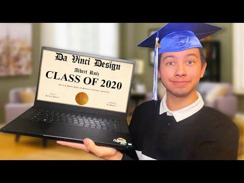 I GRADUATED ONLINE!   DA VINCI DESIGN HIGH SCHOOL (CLASS OF 2020)