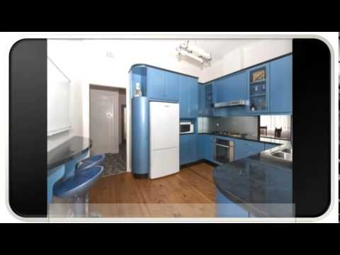 U Shaped Blue Modern Kitchen