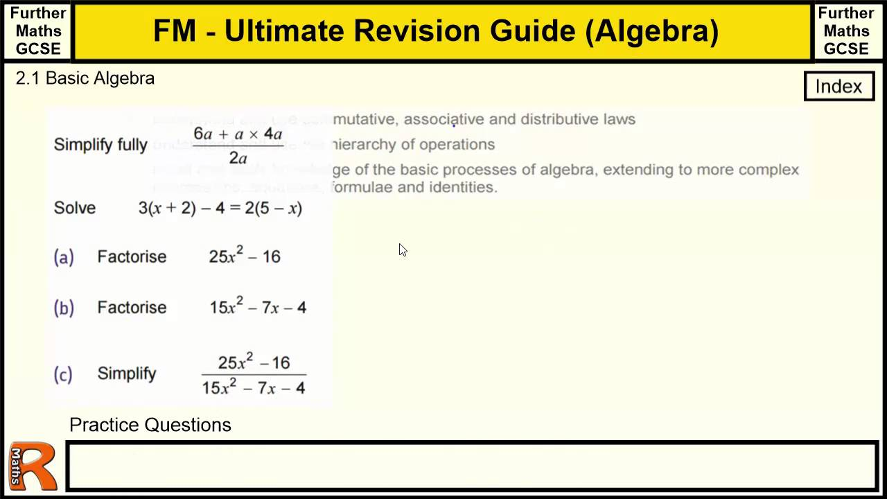 elementary algebra and basic operations