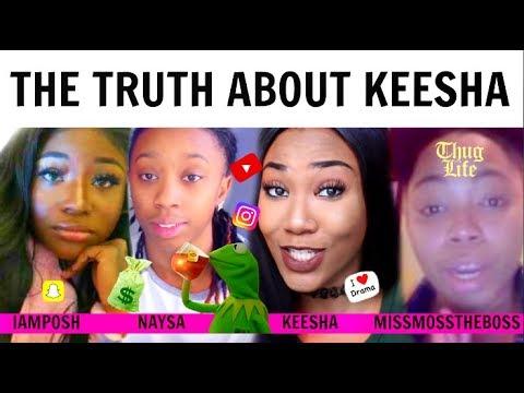 THE TRUTH ABOUT KEESHA ANDERSON BEEF w/IAMPOSH, EX-GIRLFRIEND NAYSA & MISSMOSSTHEBOSSTV