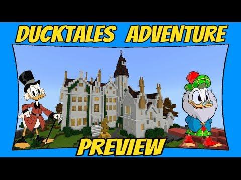 Disney's DuckTales Adventure Map Preview [Minecraft Bedrock Edition] [MCPE]