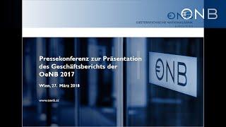 Pressekonferenz: Generalversammlung Der OeNB Und Geschäftsbericht 2017