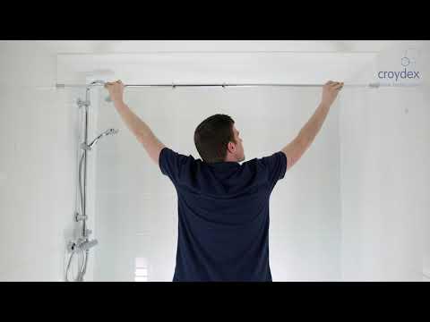 Croydex Straight Shower Curtain Rail | Screwfix