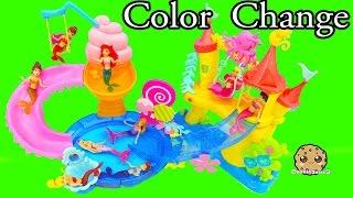 Color Changing Mermaids Disney Little Kingdom Ariel + Sisters Water Play - Cookieswirlc Videos