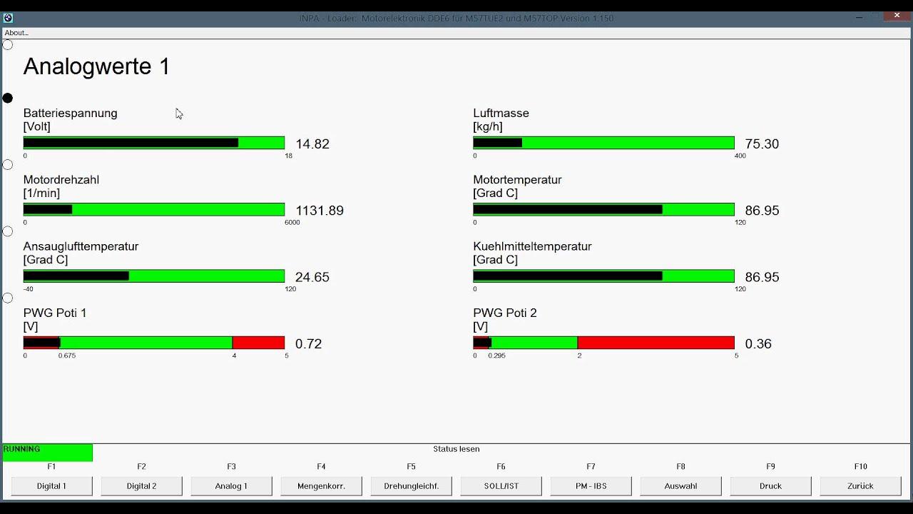 Bmw 330d M57n2 Turbo Boost Pressure Test Inpa Youtube
