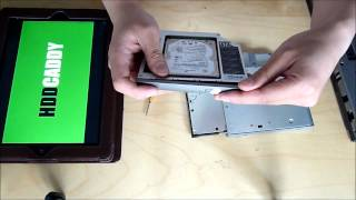 how-to Dell Latitude D620 D630 adding 2nd HDD using DVD Drive Bay / 12.7mm PATA caddy