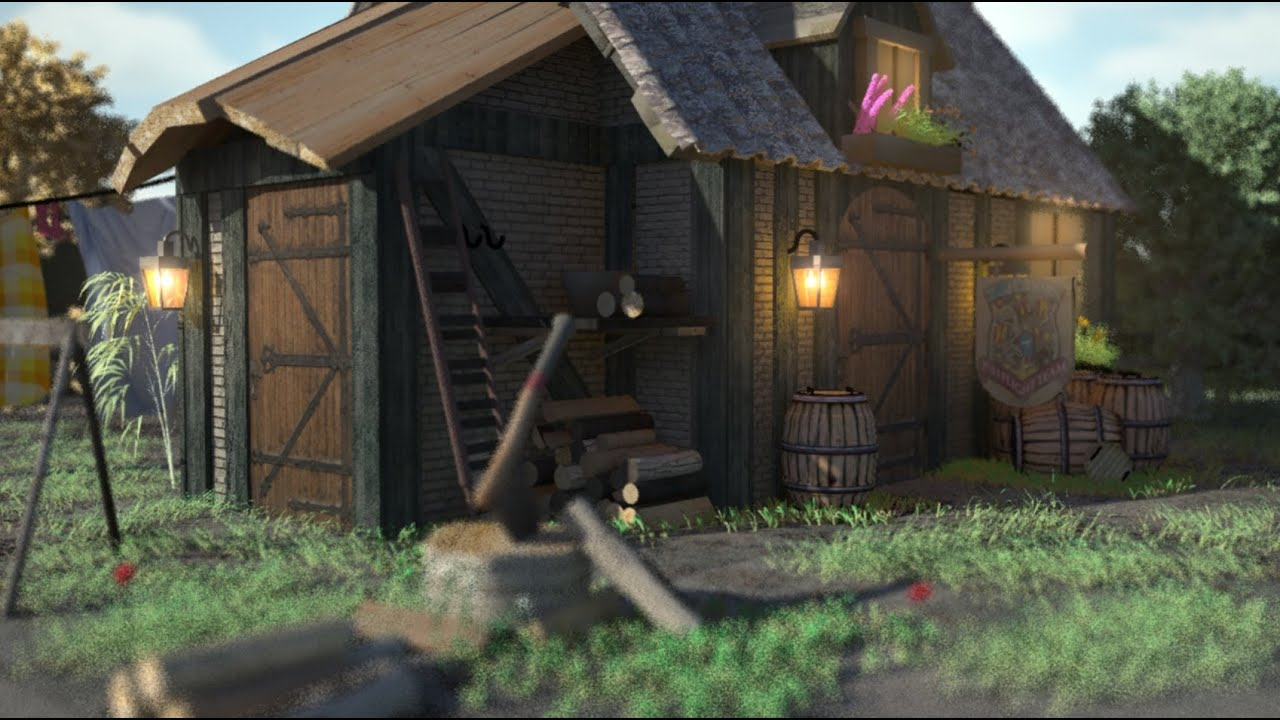 Maya Environment 3d Design Model The Cottage Youtube