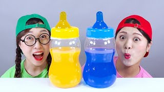 Bottle Candy Jelly DONA Mukbang