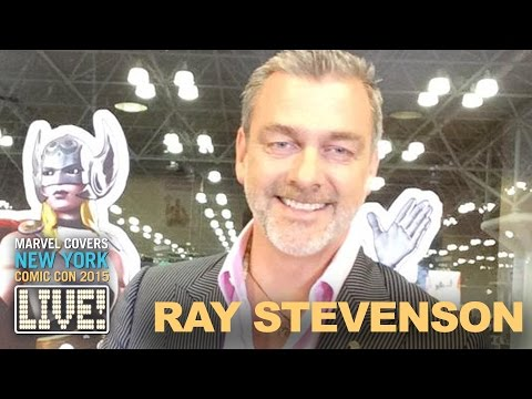 Ray Stevenson explains how to clean Volstagg's clothes on Marvel LIVE!