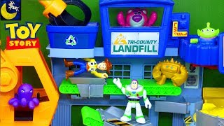 Funny Toy Story Stories for Kids Imaginext Toys Landfill Pizza Planet Playset Woody Bo Peep Set