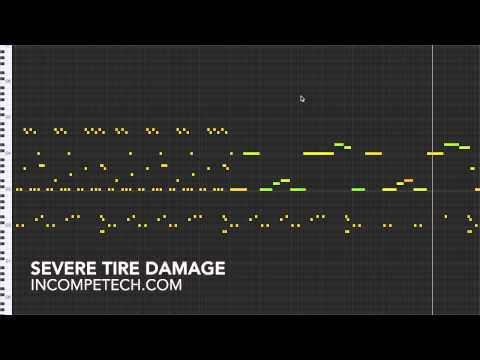 Severe Tire Damage
