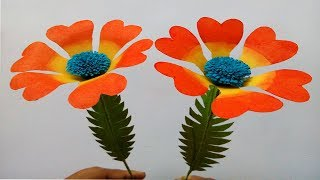 How to make paper flowers easy | paper flower making step by step | flower craft