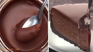 How To Make A Chocolate Cake - Most Oddly Satisfying Cake Video Compilation 👍🍰👏😜😝