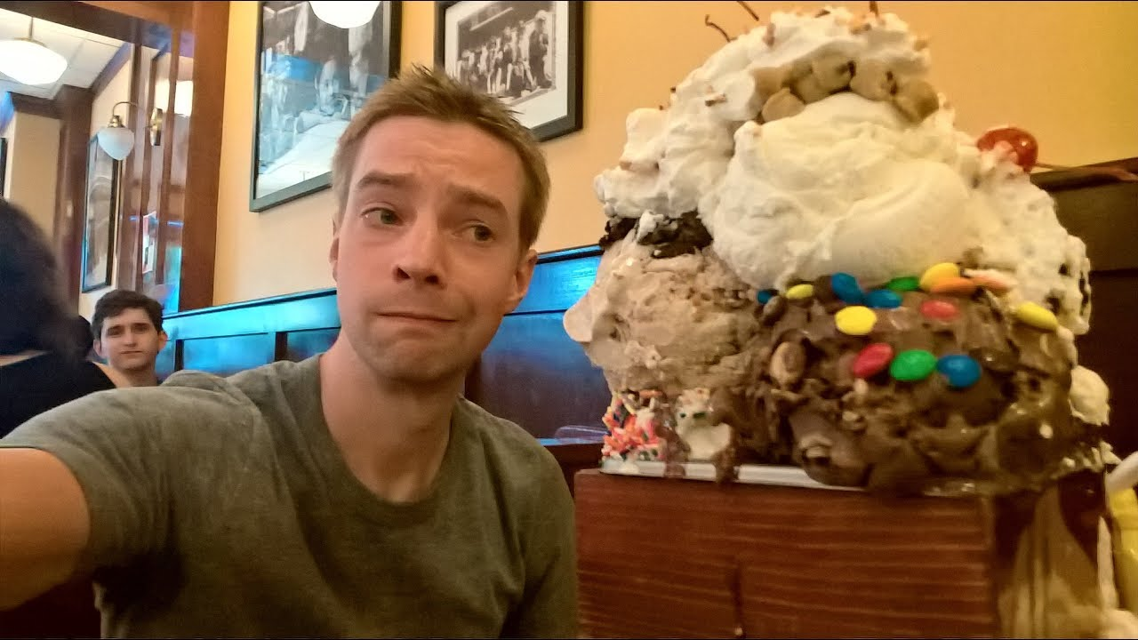 Massive Ice Cream Sundae Challenge! The Kitchen Sink at San ...