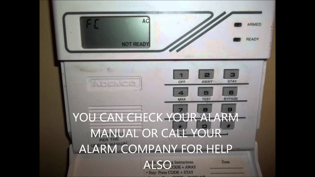 how to turn on door chime on adt alarm system