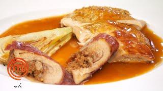 Crab Ravioli with Prawn Sauce & Guinea Fowl Leg   MasterChef UK   MasterChef World