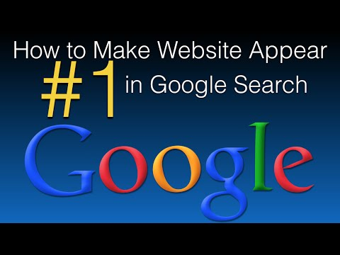 Make your website more visible on google