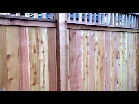 7 Foot Tall Cedar Deck Rail Privacy Fence Installed In Nashville TN Www.fencenashville.net