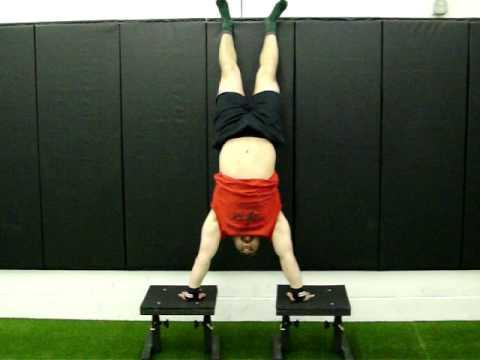 Dan Pope full ROM handstand pushup